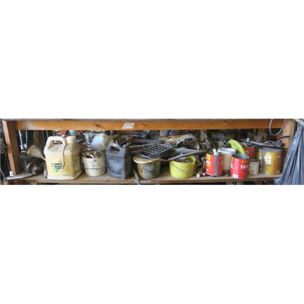 Shelf Contents of Misc. Items Including Nuts and Bolts, U Joints and More