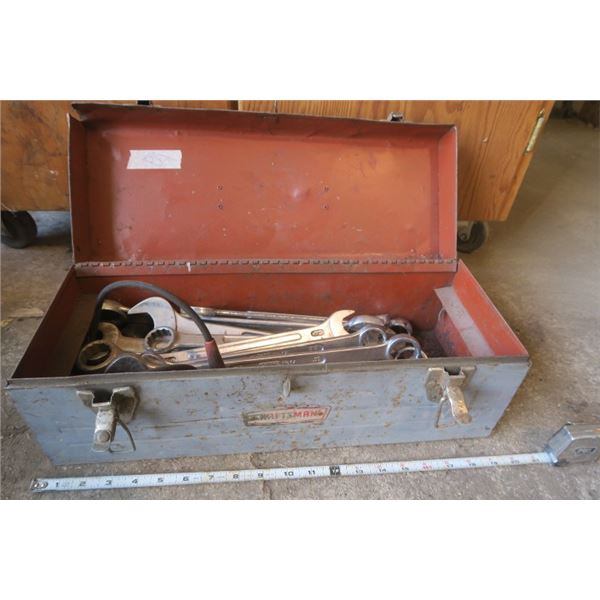 Small Metal Tool Box With Contents