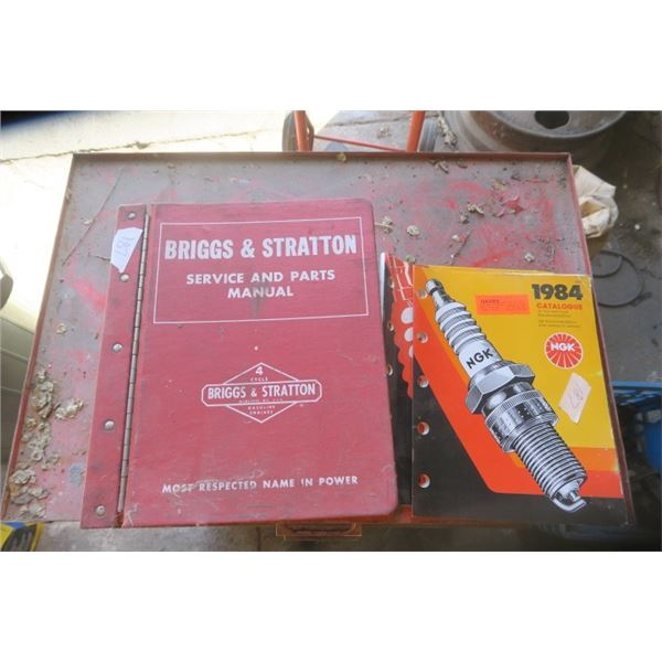 Briggs and Stratton Parts and Service Manual and NGK Spark Plug Brochure