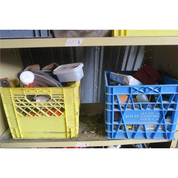 2 Milk Crate of Misc. Items