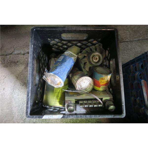 Milk Crate of Misc. Items