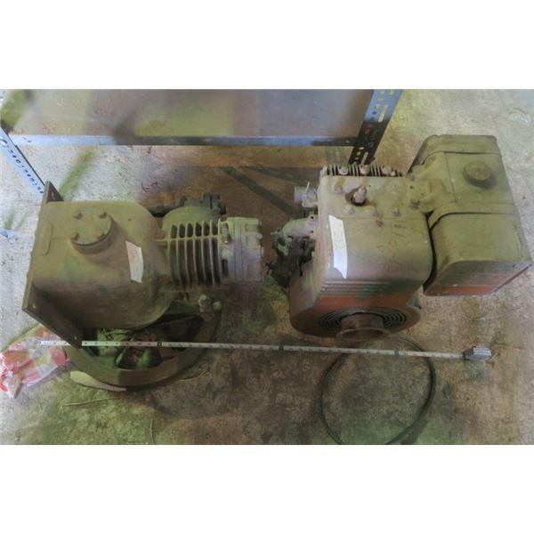 2 Vintage Gas Motors (1 Siezed)