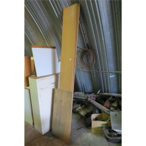 3 Pieces of 8 Foot Wood Shelving, 1 Extra Piece