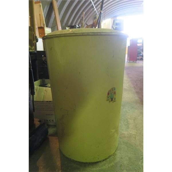 Large Shop Garbage Cans Including Content