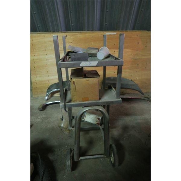 Wheeled Multi Level Shop Cart