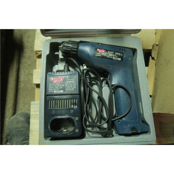 """Quality Craft 3/8"""" Drill with Charger"""