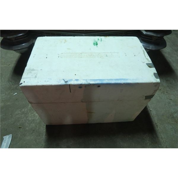 Large Styrofoam Cooler Including Canada Post Bags