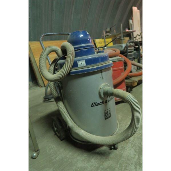 Black and Decker Shop Vacuum on Wheeled Cart