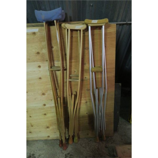 3 Sets of Crutches