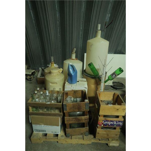 Pallet of Wine Making Supplies