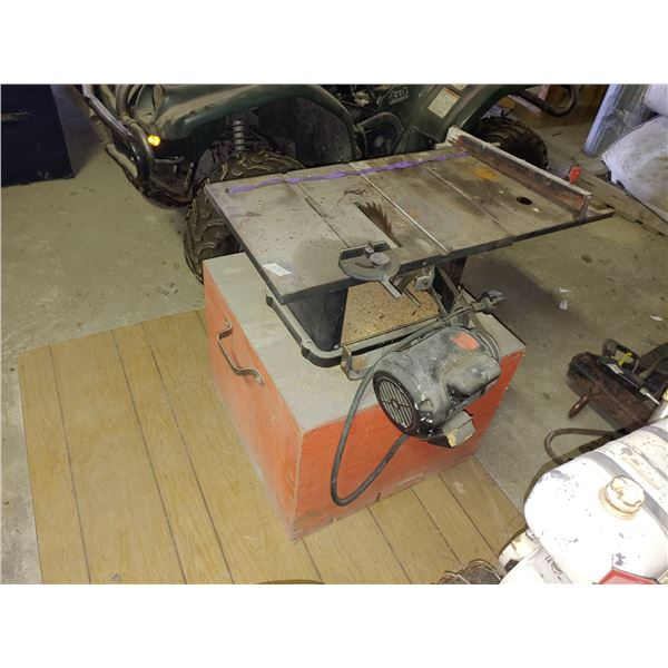 Table Saw on Stand with Storage