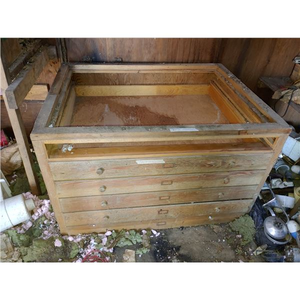 Antique File Drawer Cabinet