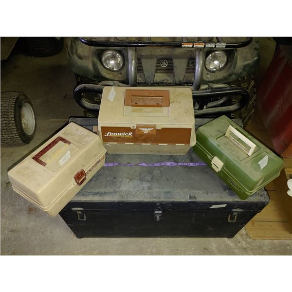 Lot of 3 Tackle Boxes and Contents