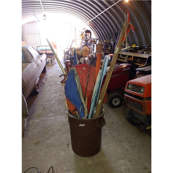Large Shop Garbage Bins of Misc. Fishing Equipment