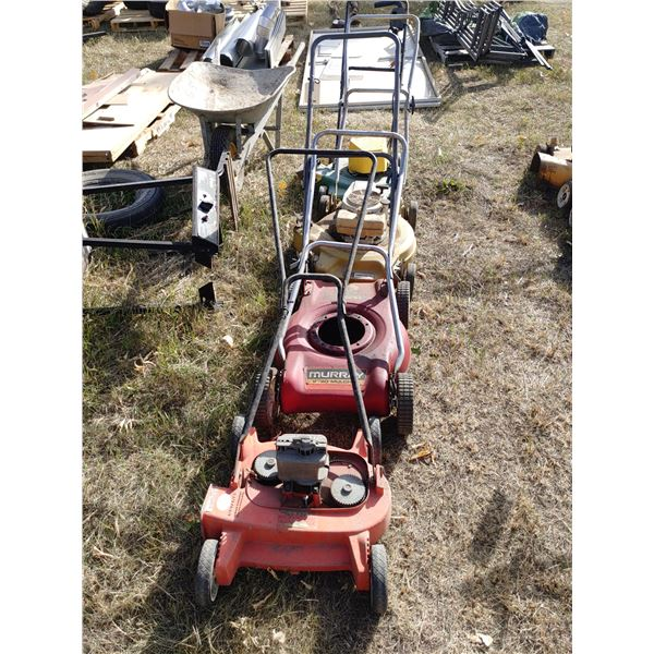 Lot of 4 Lawn Mowers in Various Condition