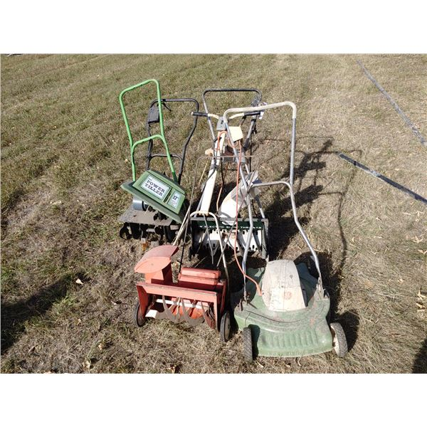 Lot of 2 Mowers and 2 Tillers