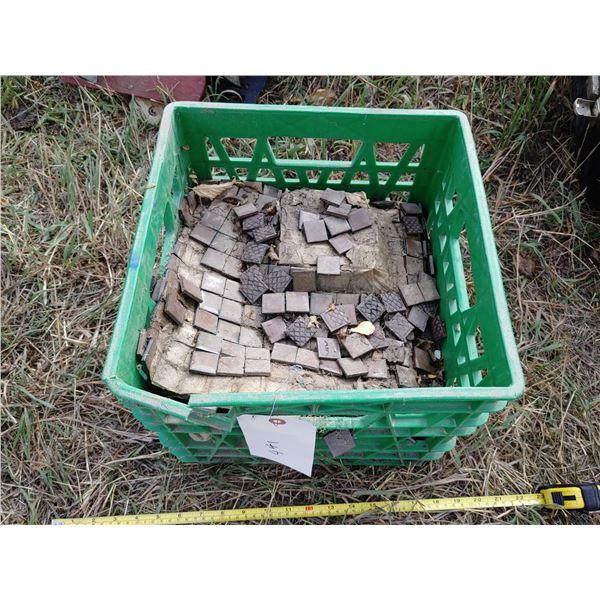 Milk Crate of Mosaic Tiles
