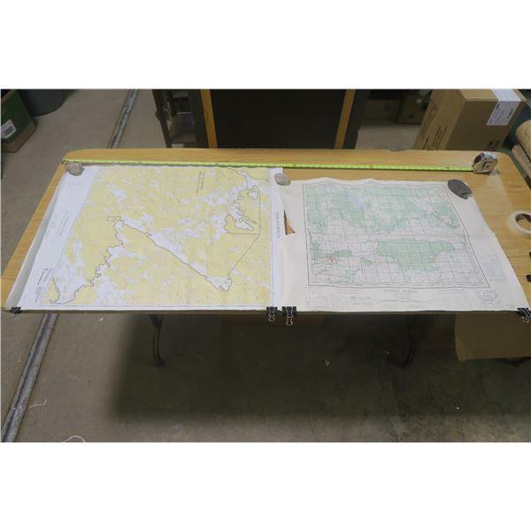 2 Maps 1 of Churchhill River, 1 of Prince Albert & NE