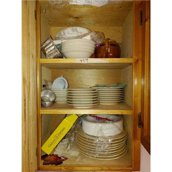 Cupboard of Contents, Dishes, ETC.