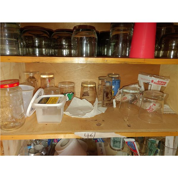 Cupboard of Contents Including Glasses