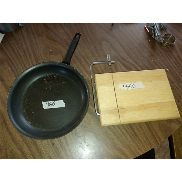 Frying Pan and Cheese Cutting Board