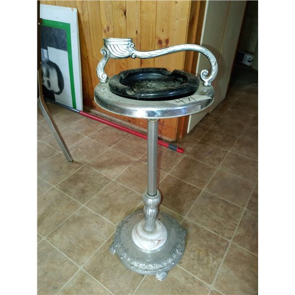 Antique Ashtry and Stand, Beautiful Design and Marble Base