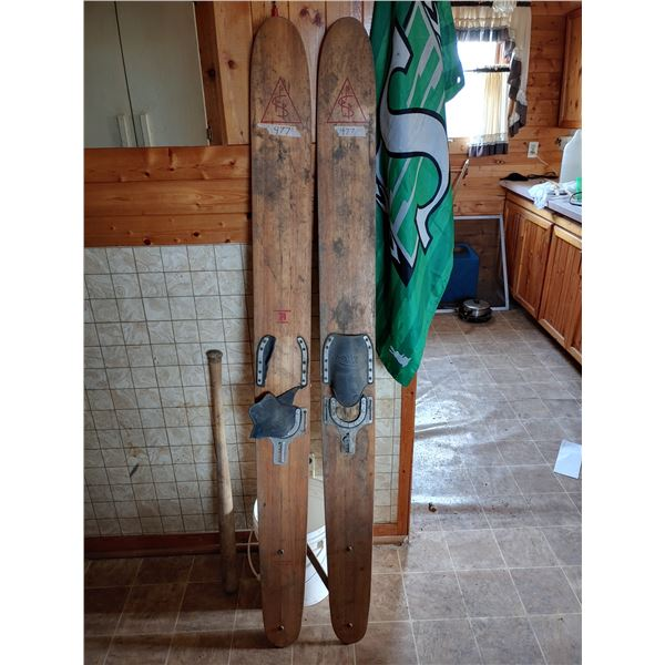 Pair of Antique Water Skis