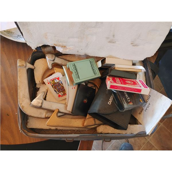 Lot of Playing Cards and Vintage Horse Shoes