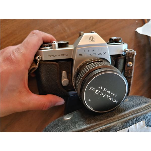 Asahi Pentax Camera in Cover/Case