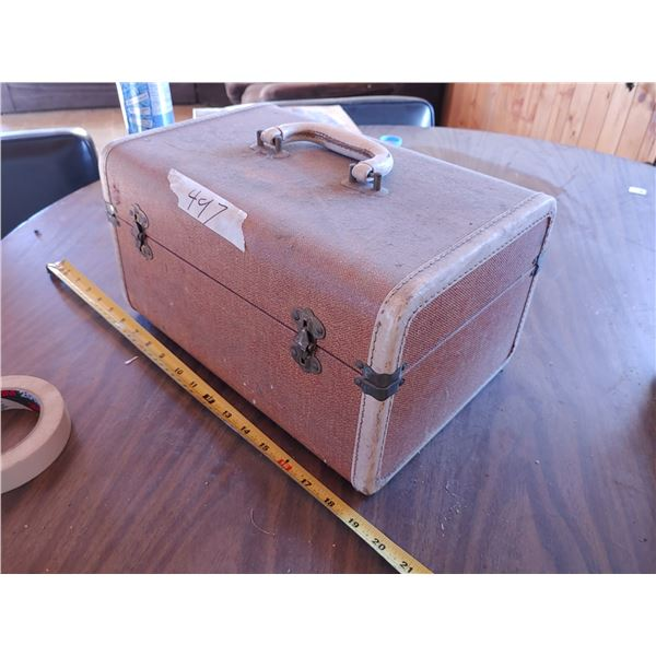Antique Storage Container with Unknown Contents (Doesn't Open)