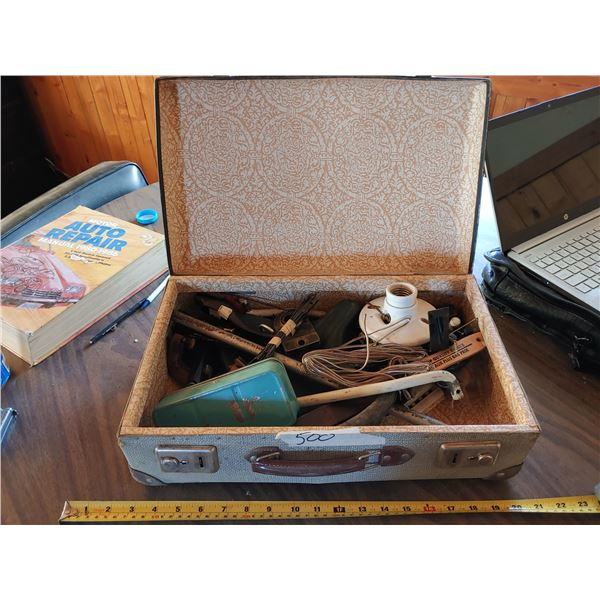 Antique Briefcase With Contents