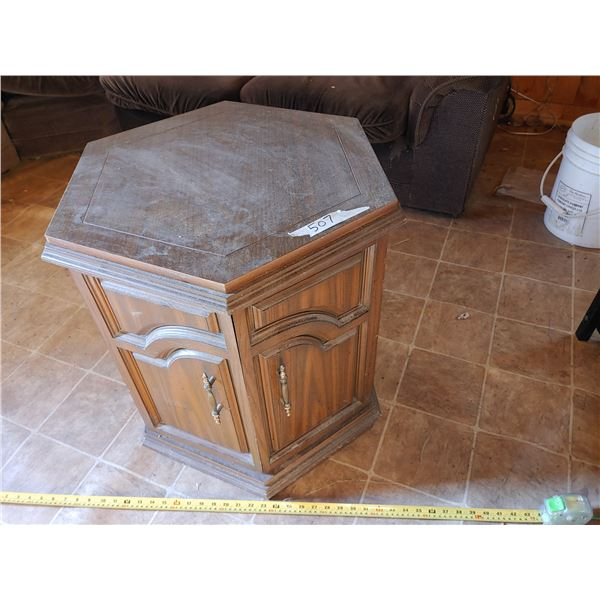 Octaganal End Table