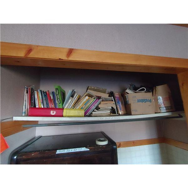 Shelf Contents Including Various Service Manuals