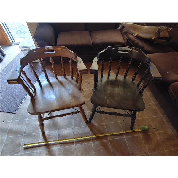 Set of 2 Wooden Chairs 1 from C.P. Rail