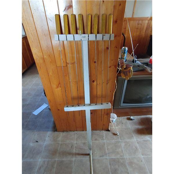 Set of Hotdog Roasting Sticks with Stand