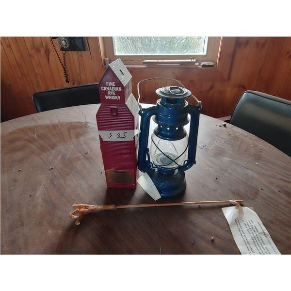 Antique Oil Lamp, Grain Elevator Bottle, and The Best Back Scratcher Ever