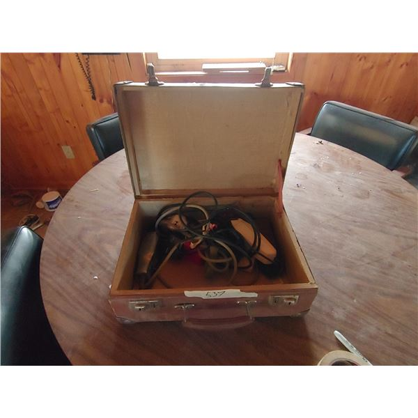 Vintage Traveling Case with Contents