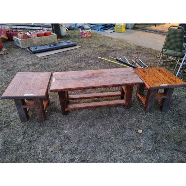 Set of 2 End Tables and Coffee Table