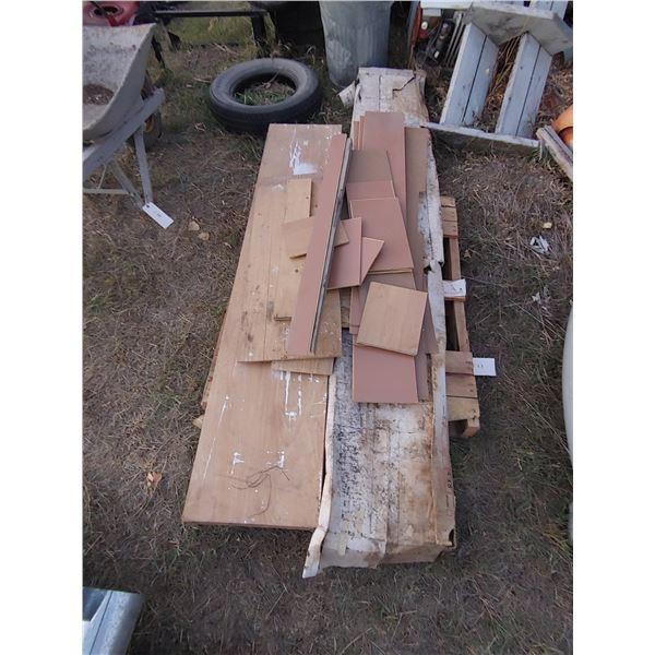 Pallet of Misc. Items Including Folding Closet Door