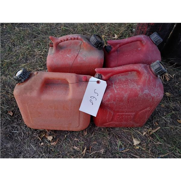 Lot of 4 Smaller Gas Cans