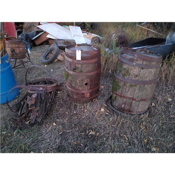 3 Oak Barrels, 1 is for Parts