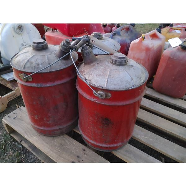 Lot of 3 Vintage Fuel Cans