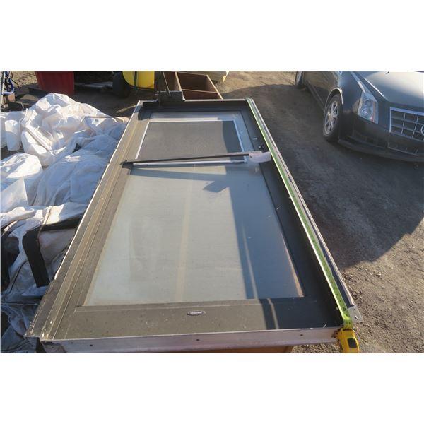 """Heavy Metal Framed Comercial Door With Window 85 3/4"""" X 39 1/2"""