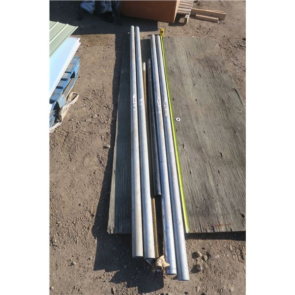 Lot of 4 Pipes Roughly 8 Feet and PVC