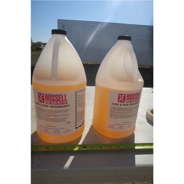 2 4L Jugs of Comercial Dish/Bar Detergent