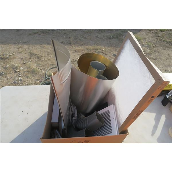 Box of Misc. Duting & Grates