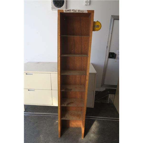 Vintage Wood and Glass Shelf