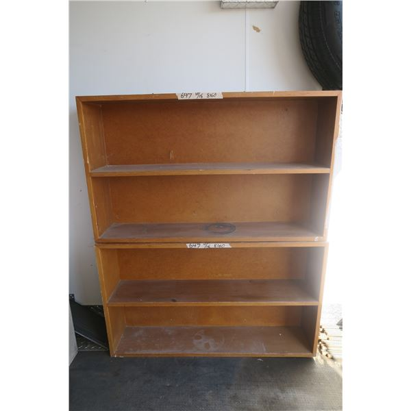 2 Wooden Shelves (Stacked in Pictures)