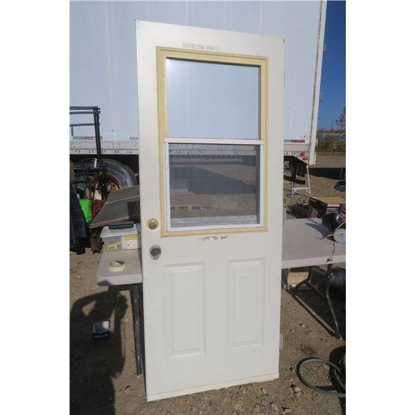 Metal Exterior Door w/ Window 31 3/4 X 79