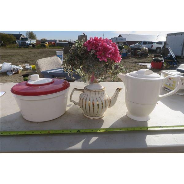 Teapot, Caraf, Ice cream Maker& Vase